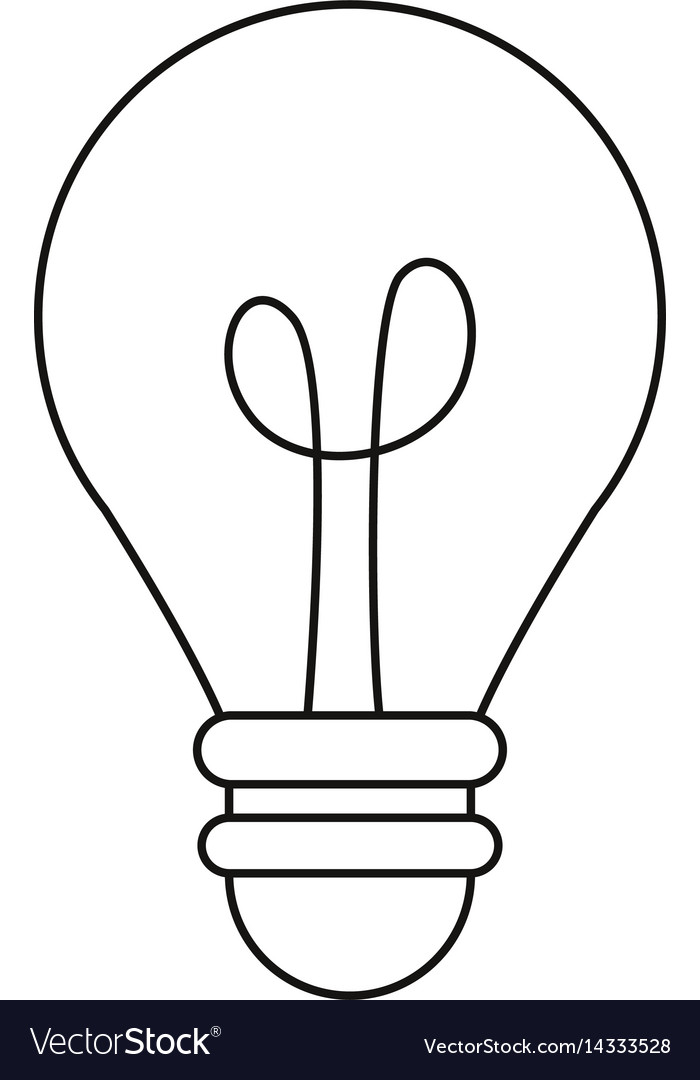 Bulb light creativity innovation thin line vector image