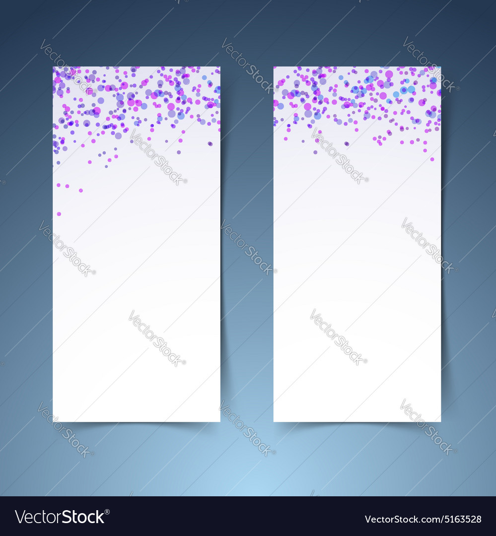 Colorful confetti poster layout collection vector image