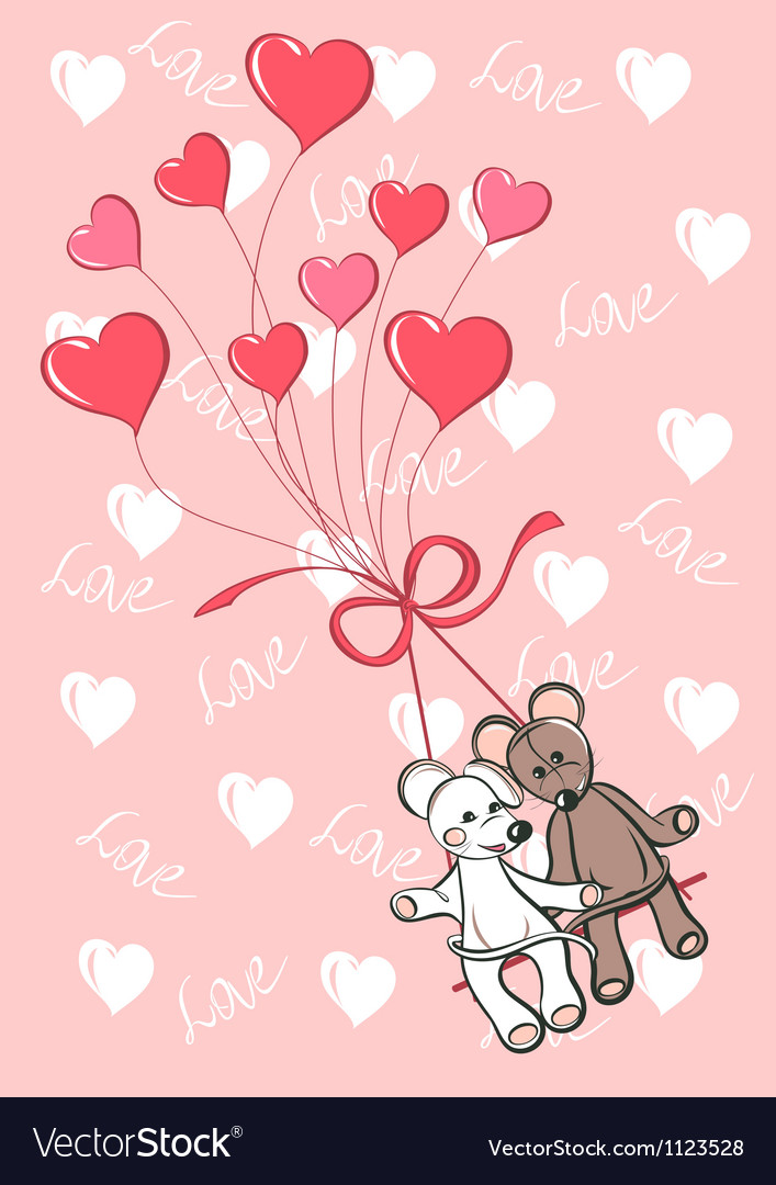 Lovely mouses vector image