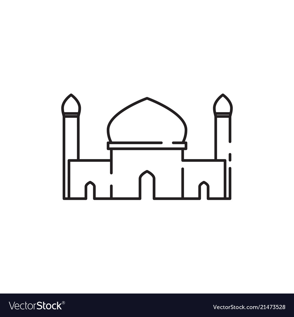 Mosque twin tower sketch graphic design