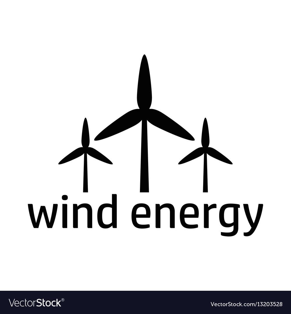 Wind energy black icon