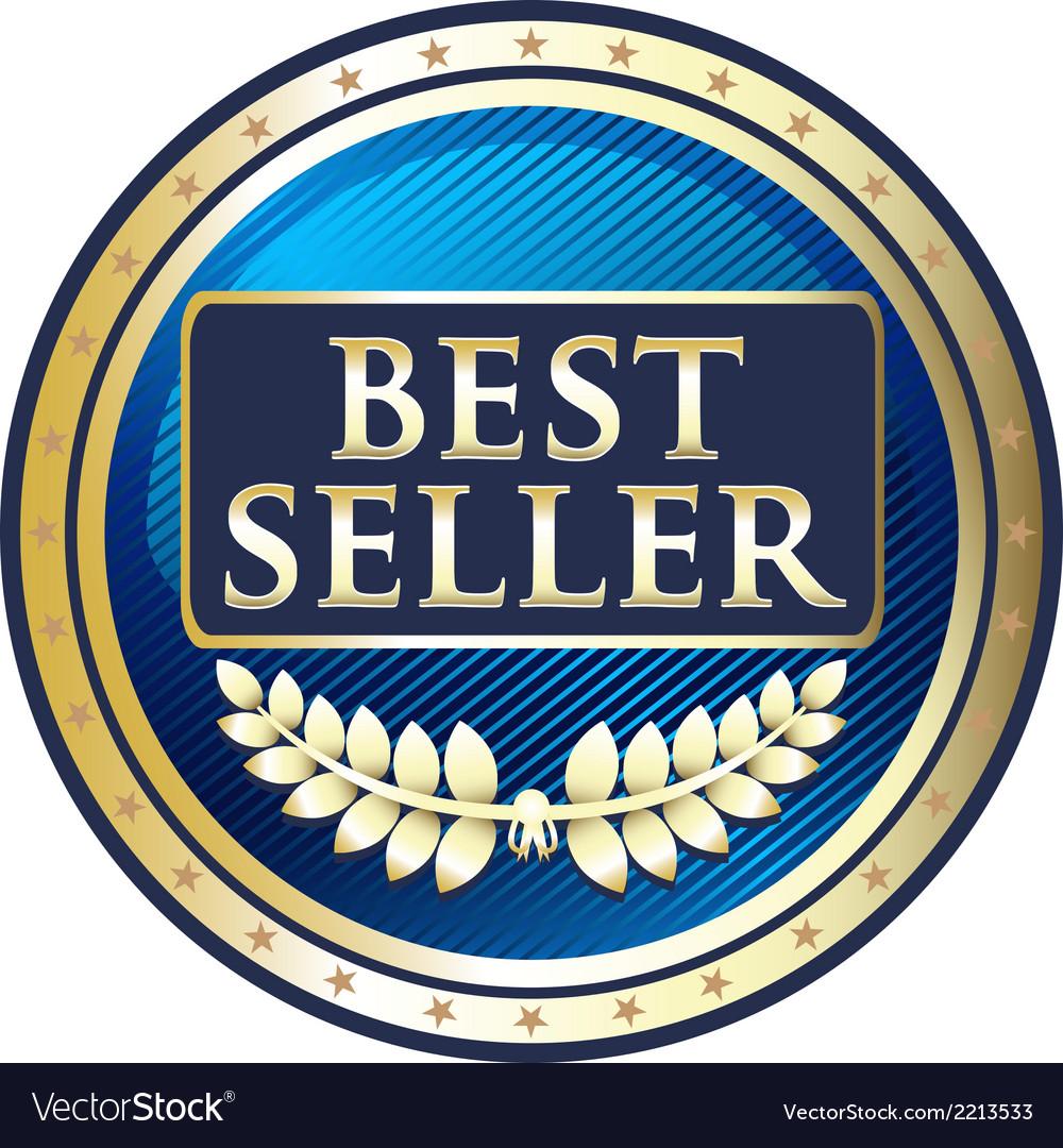 Best Seller Blue Label vector image