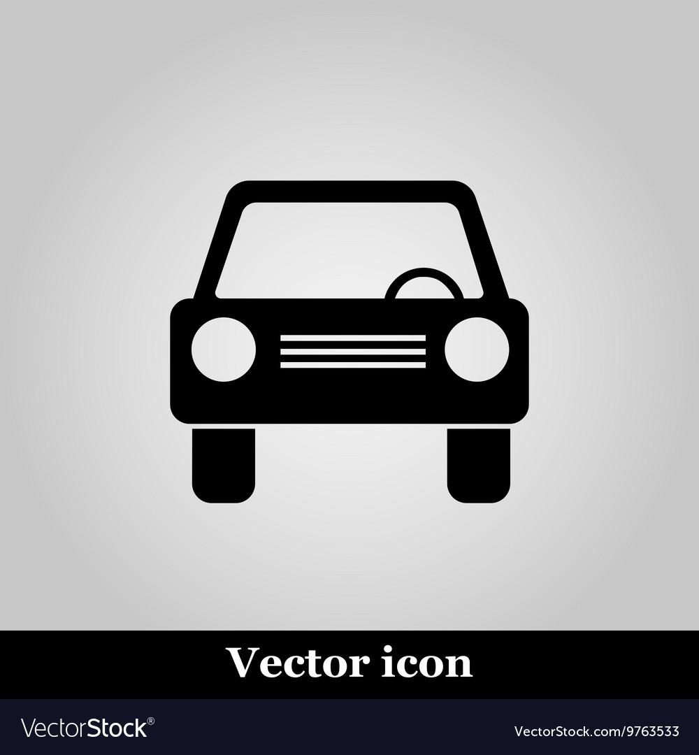 Car icon on grey background