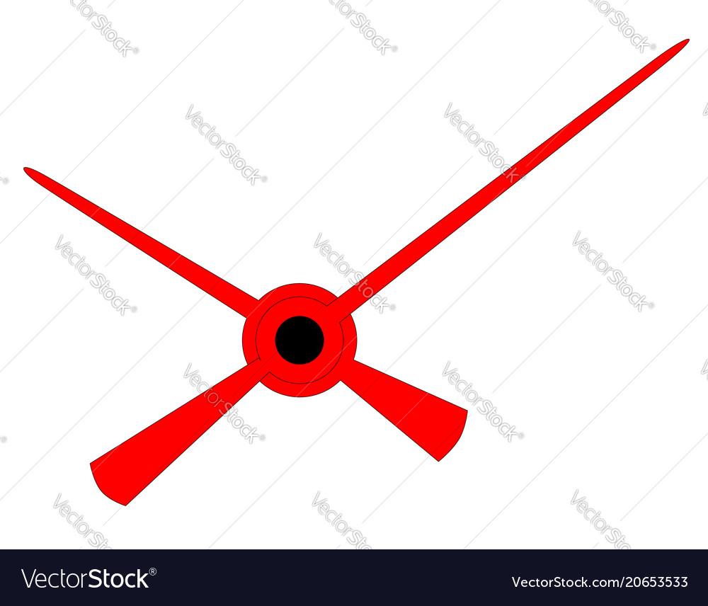 clock hands royalty free vector image vectorstock rh vectorstock com Vector Clock Icon Blank Clock Vector