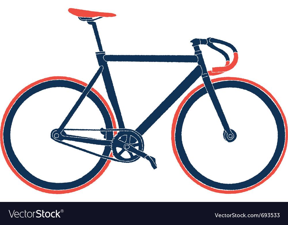 Fixed gear bicycle Royalty Free Vector Image - VectorStock