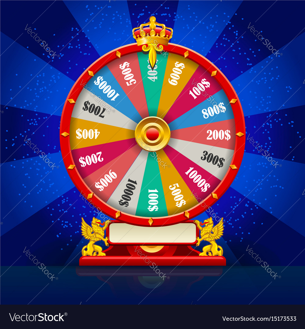 Fortune wheel realistic spinning lucky roulette
