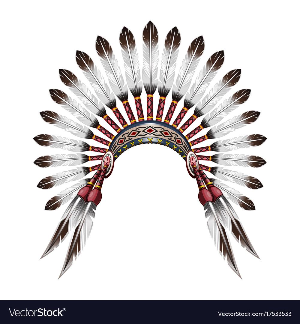 native american indian headdress royalty free vector image