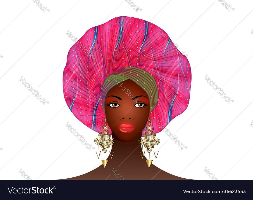 Nigerian turban portrait african american woman