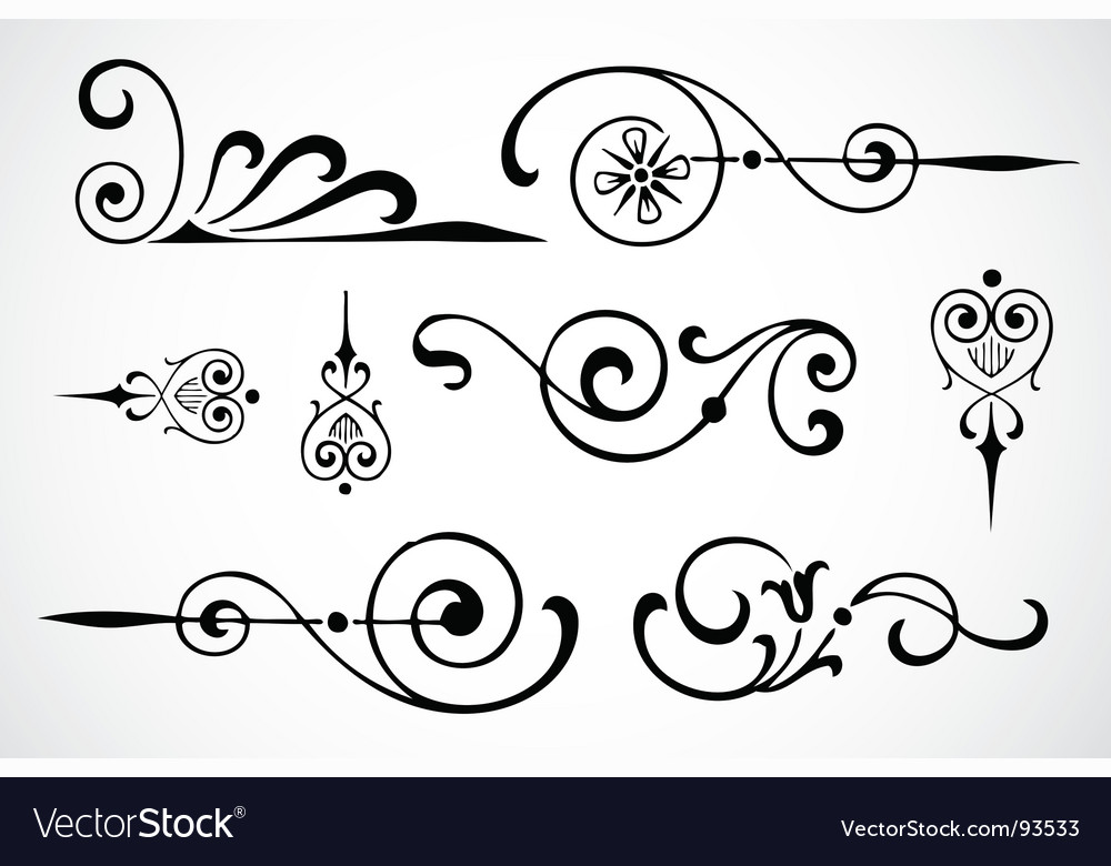 Swirl ornaments vector image