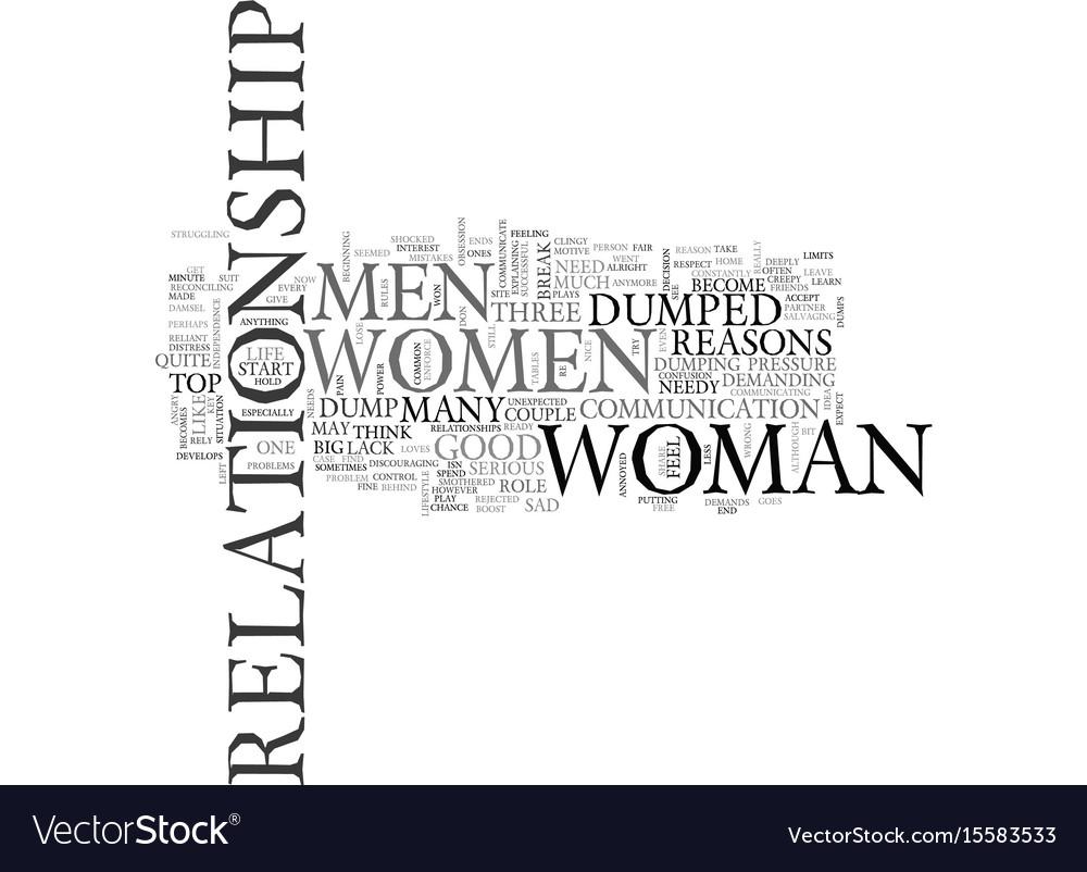 why do men dump women