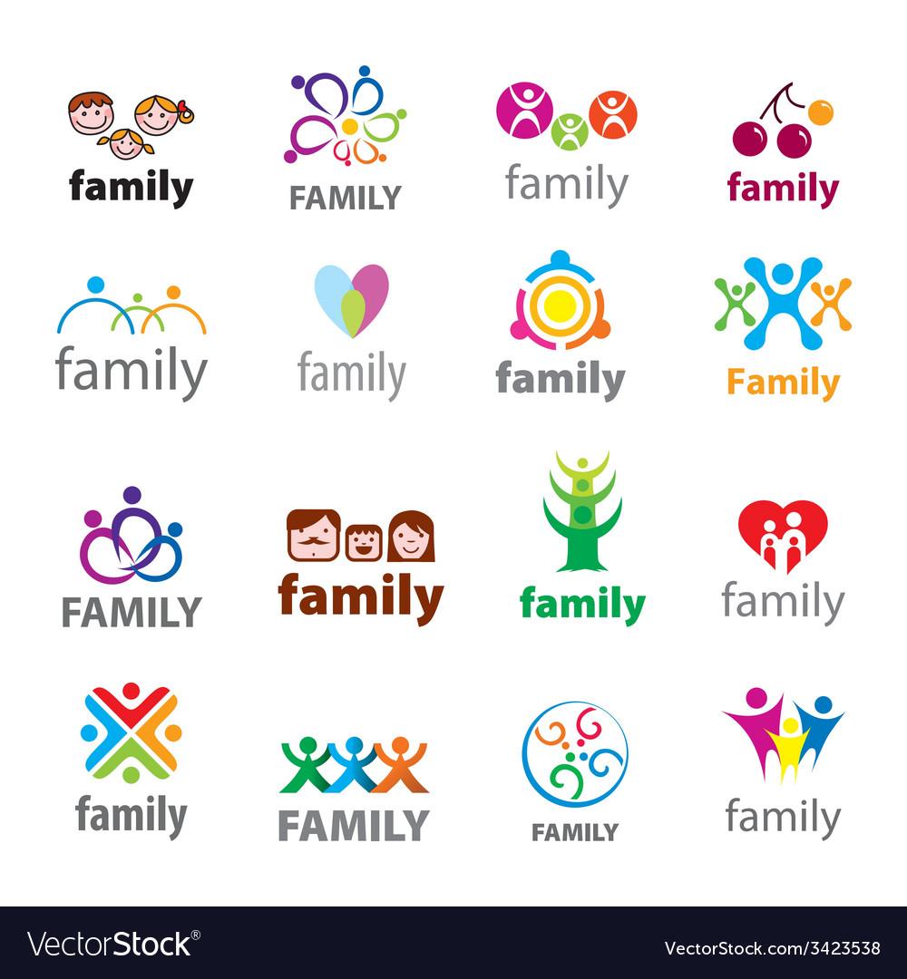 Big set logos family