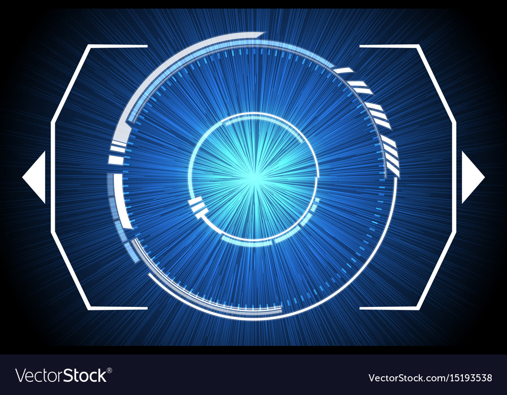 Blue technology inside spaceship background vector image