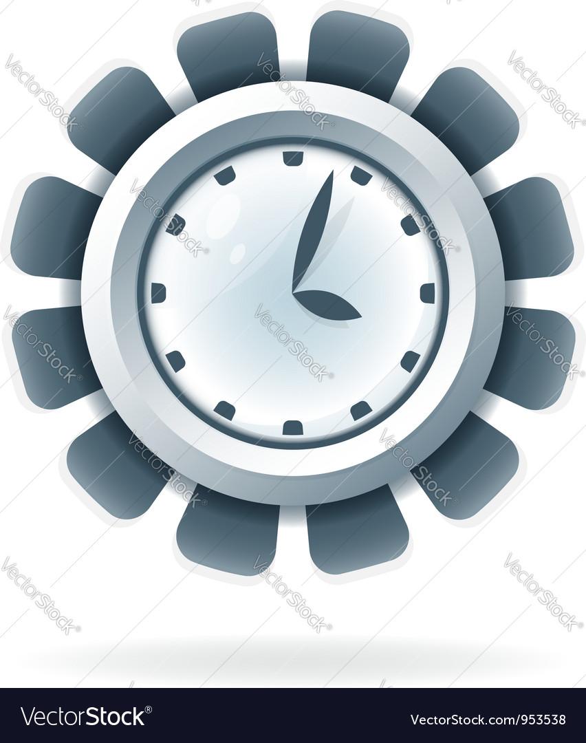 Creative clock icon