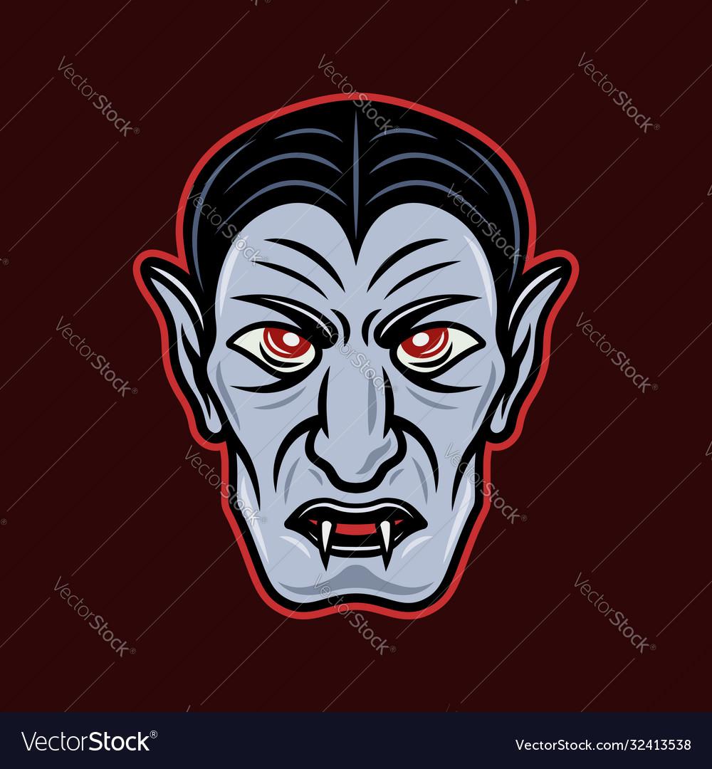 Dracula vampire head cartoon