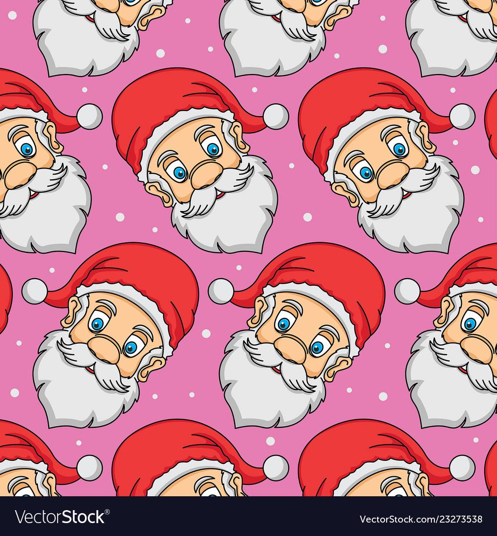 Pattern head santa claus