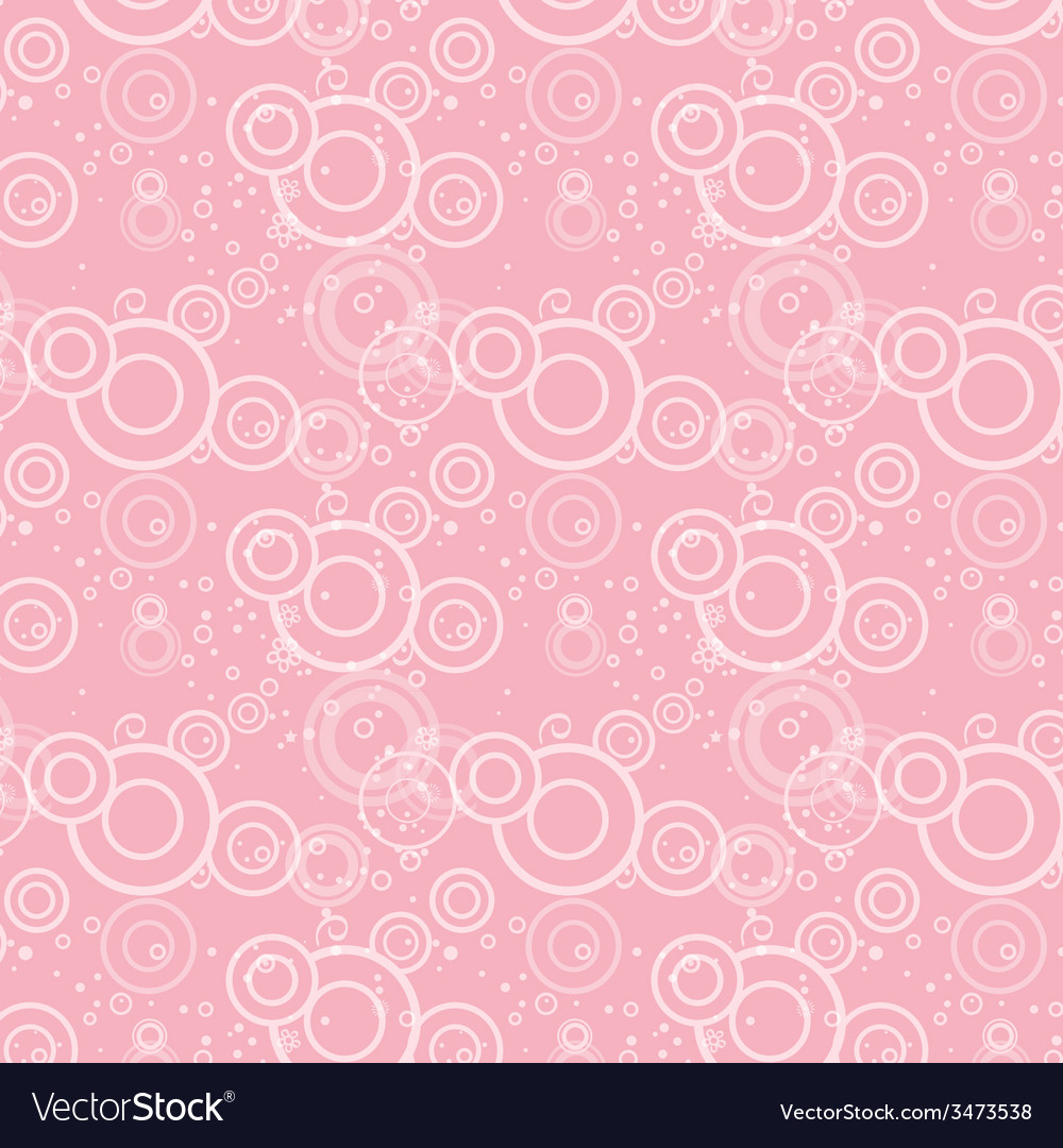 Seamless texture pink circles and flowers