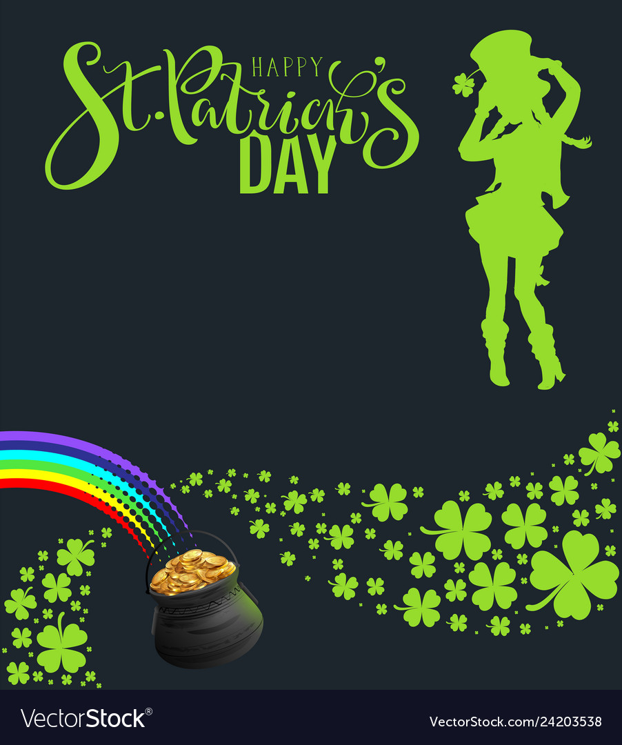 St patricks day party template banner green