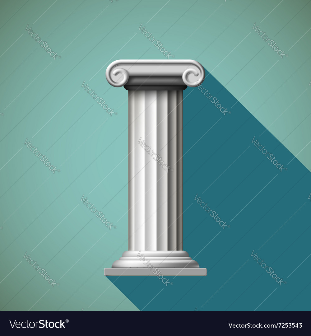 Antique column Stock vector image