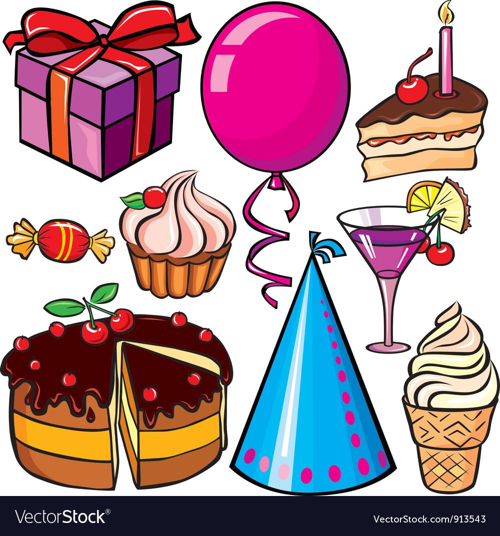 Birthday icon set