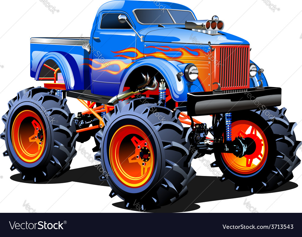 Cartoon Monster Truck Royalty Free Vector Image