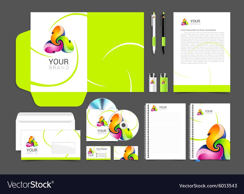 Corporate identity creative color template design