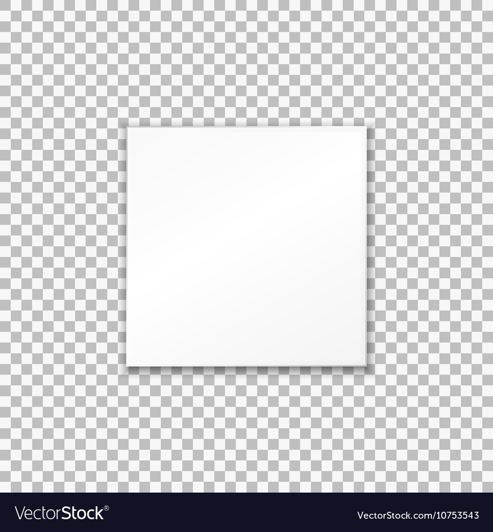 Empty White Paper Plate On Transparent Background Vector Image