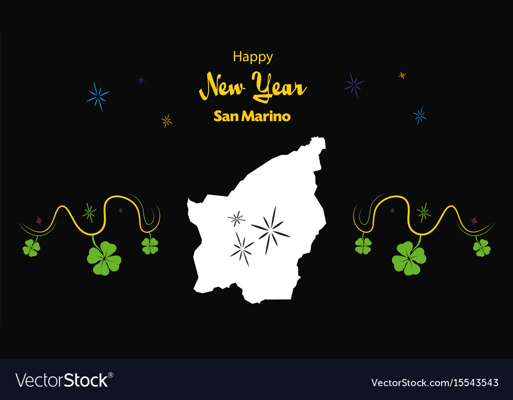 happy new year theme with map of san marino vector image
