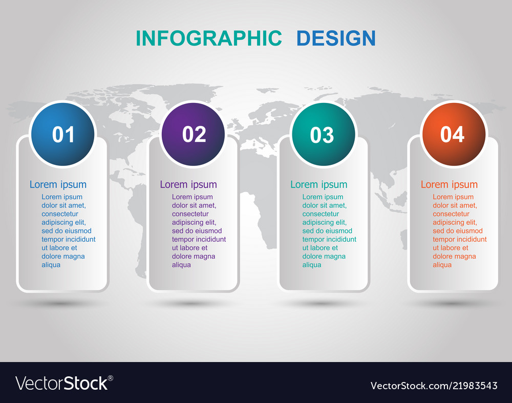 Modern banners infographic design template
