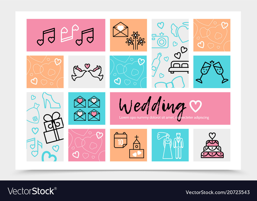 Wedding Infographic Template Vector Image