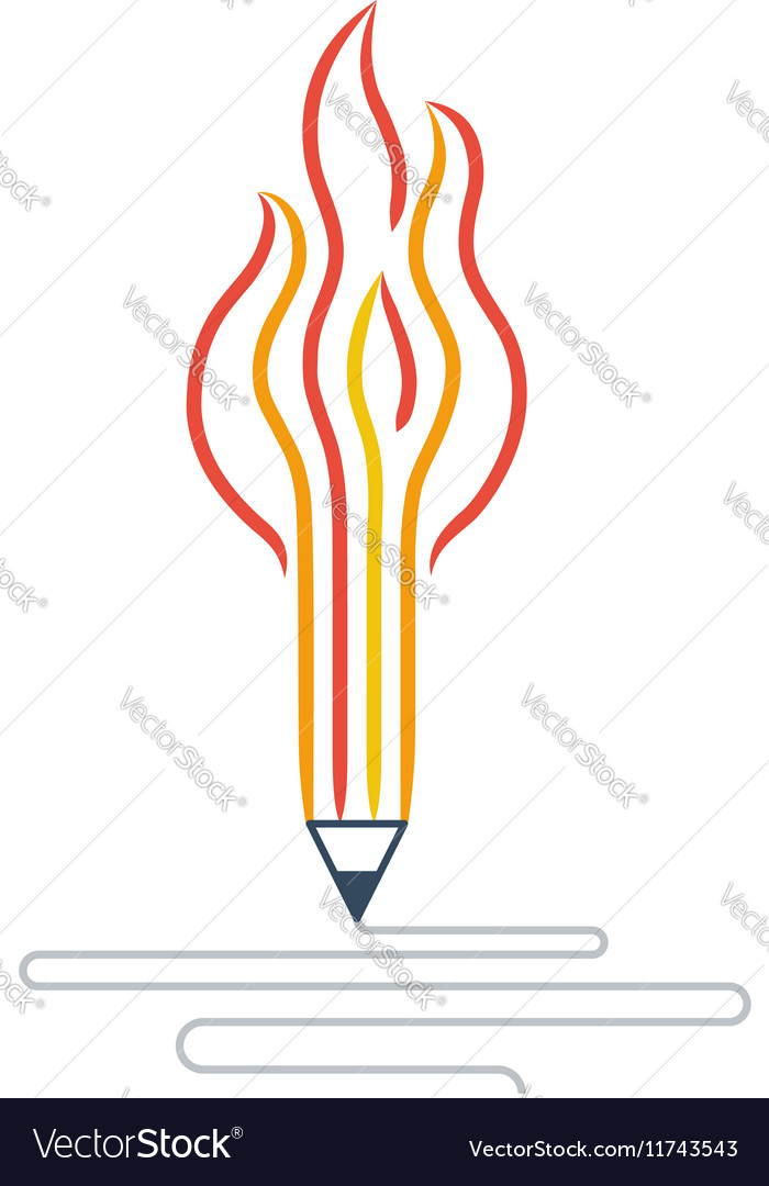 Writing skills development painting class icon vector image