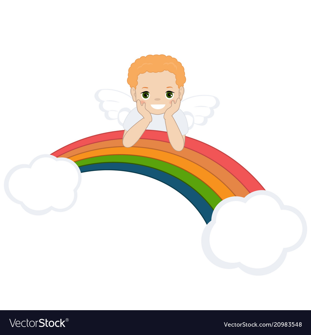 Angel and rainbow