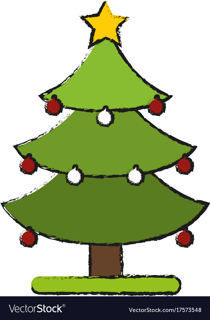 Christmas Tree Symbol Royalty Free Vector Image