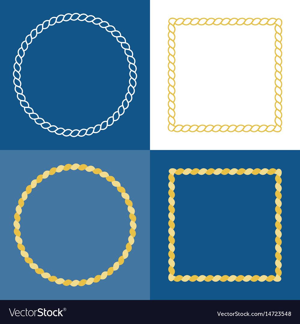 Circle rope frame border