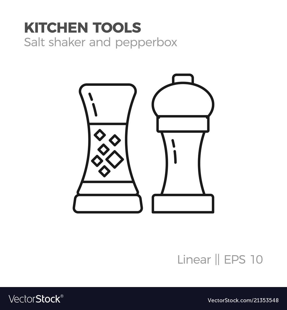 Linear kitchenware icon