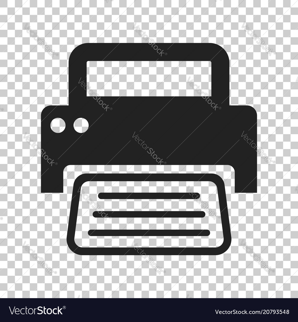 printer icon on isolated transparent background vector image vectorstock