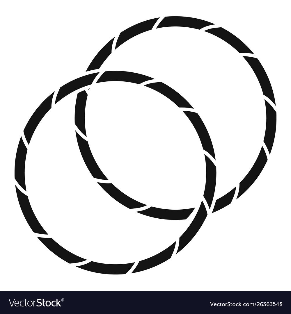 Rhythmic gymnastics hoop icon simple style