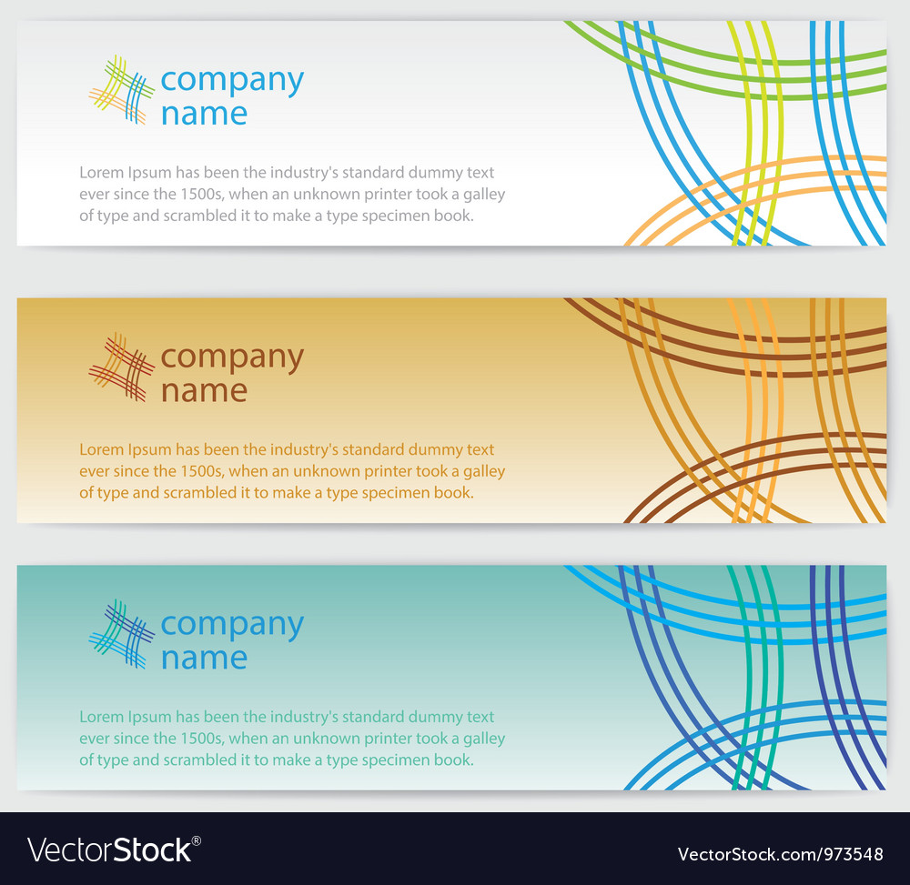 Three Invitation Cards With Lines On Background