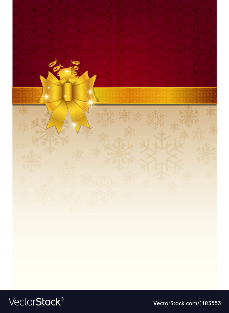 Abstract golden ribbon and background