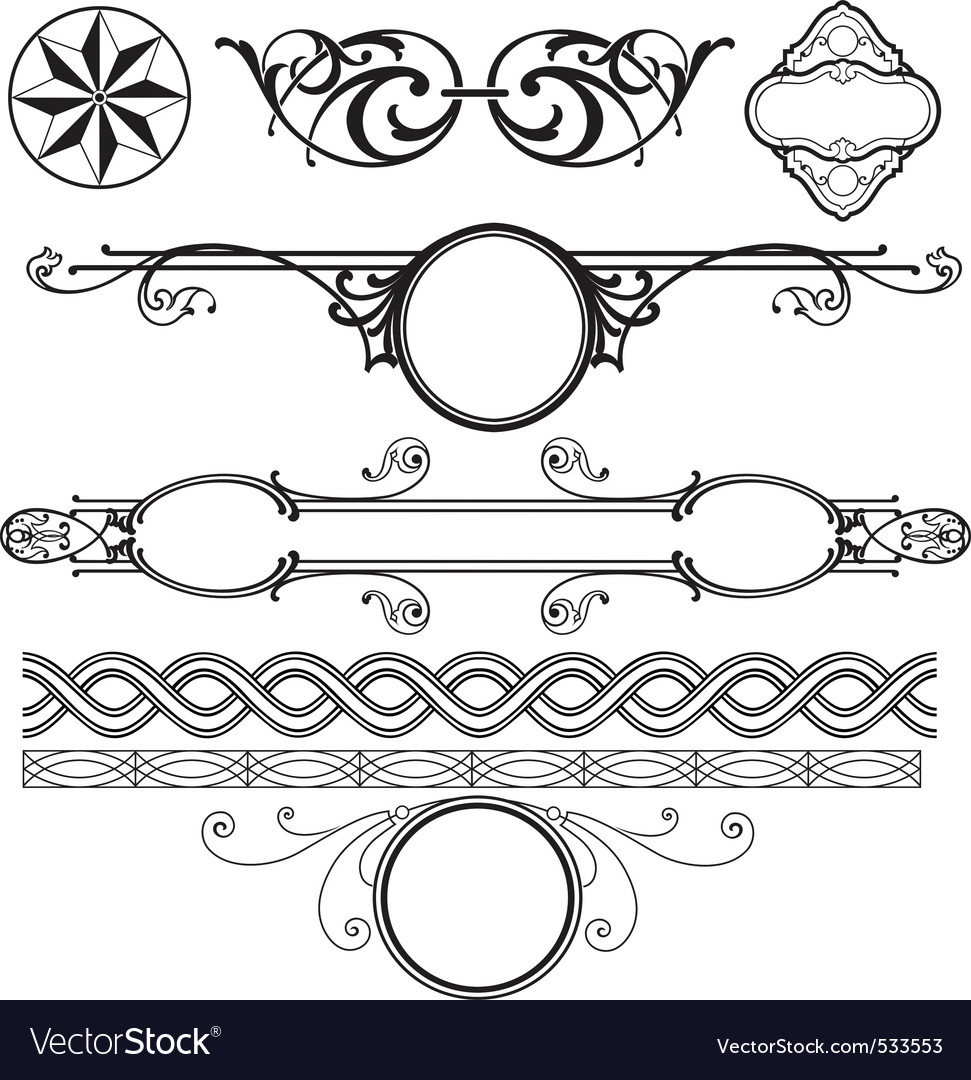 decoration elements pack royalty free vector image  vectorstock