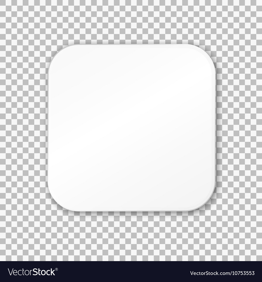 & Empty white paper plate on transparent background Vector Image