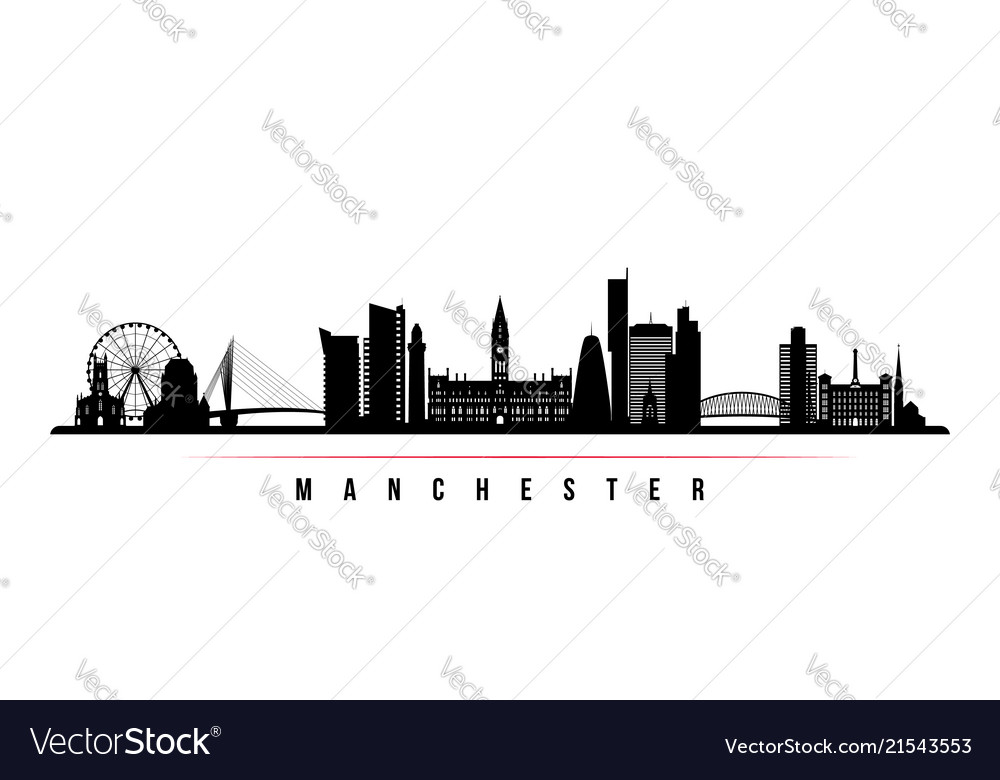 Manchester city skyline horizontal banner