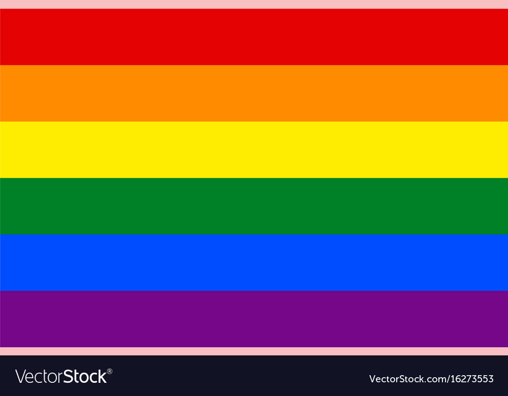 Standard proportions for gay flag vector image
