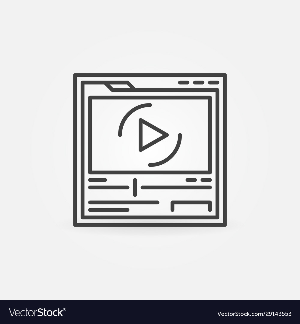 Web page in browser with video player