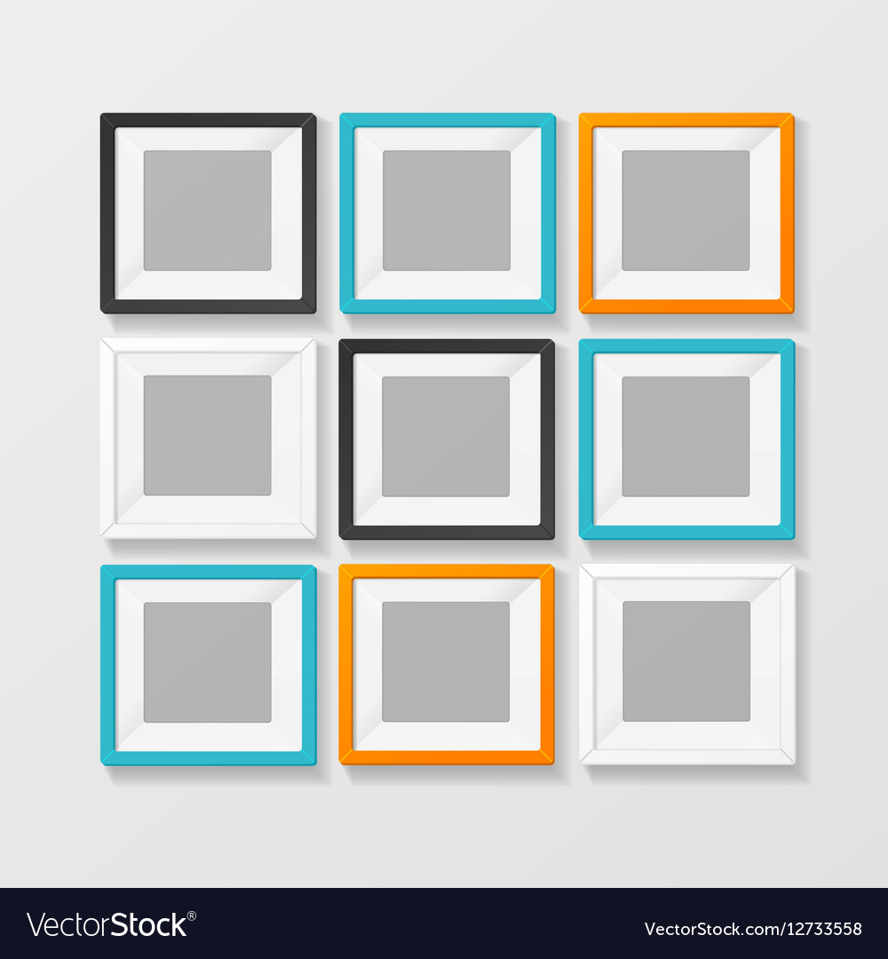 Blank Color Picture or Foto Frame for Interior vector image