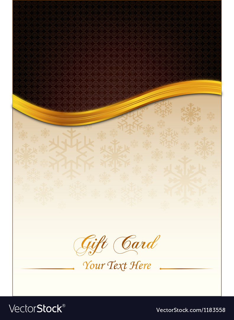 Brown gift card