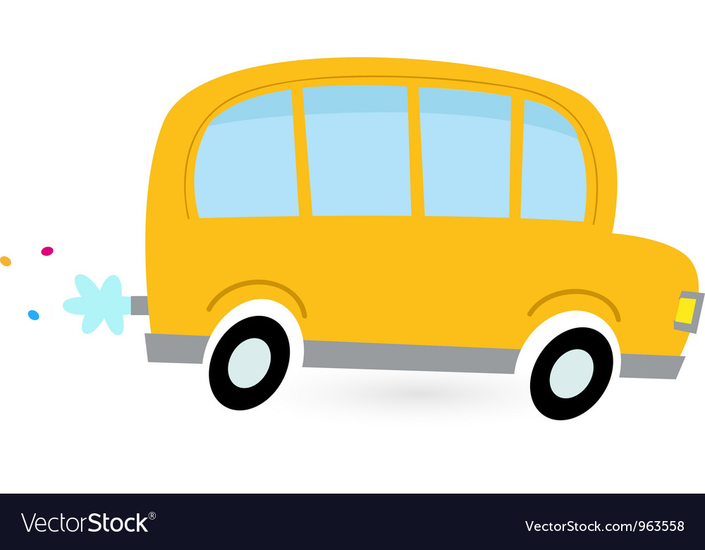 cartoon school bus royalty free vector image vectorstock rh vectorstock com school bus vector free download school bus vector image
