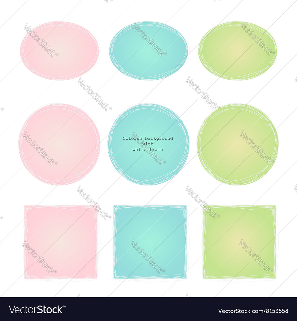 Colored texture with gradient white frame vector image
