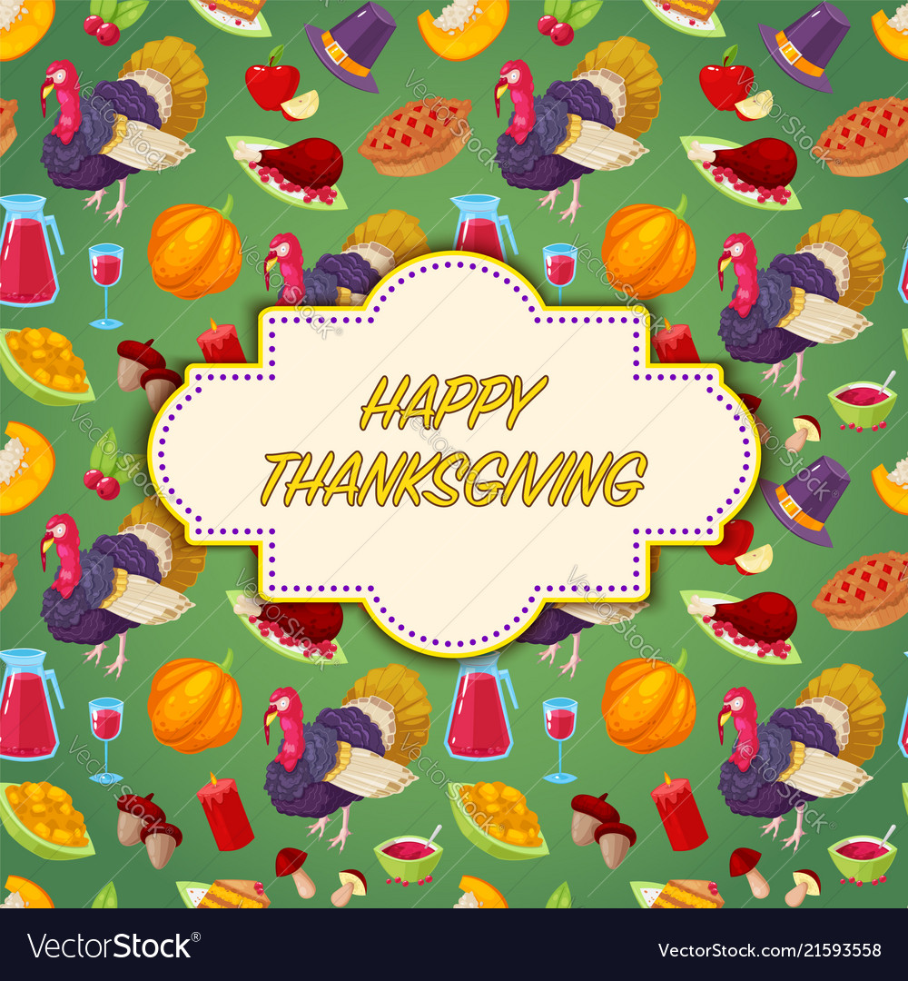 Invitation card for thanksgiving day