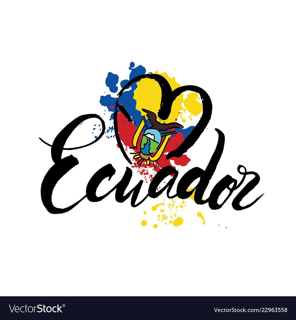 Logo for ecuador country fridge magnet