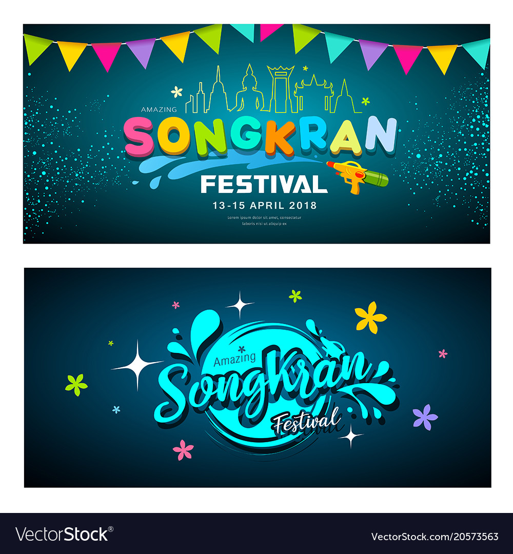 Amazing songkran festival banners collections